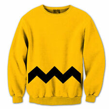 Charlie Brown Adult Funny  Humor  Costume Gold Crewneck Sweatshirt