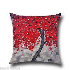 Cotton Linen Bolster Throw Pillow Case Sofa Car Cushion Cover Home Decor GIFT