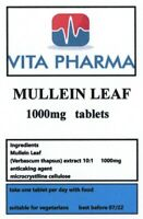 HIGH STRENGTH MULLEIN LEAF 1000mg 365 tablets ANTIVIRAL ANTI INFLAMMATORY