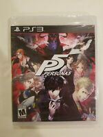 PS3 Persona 5 (Sony Playstation 3, 2017) NEW -  Fast Shipping SEALED RARE