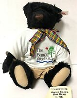 Steiff Limited Edition Boggy Creek Bob Bear Black Mohair Teddy Bear Plush 665110