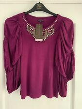 NEW Marks & Spencer Ladies Top Size 8 M&S Women's Party Top With Sparkles Size 8