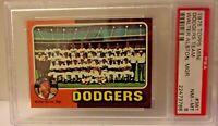 1975 TOPPS MINI DODGERS TEAM WALTER ALSTON, MGR. CARD # 361 PSA 8 NM-MT