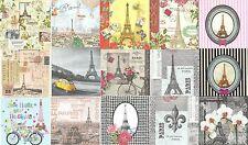 Lot 15 Serviettes en papier Paris Tour Eiffel Fleur de Lys Paper Napkins