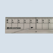 150mm Transparent Ruler,can easy to cut a piece of paper,white,made in Japan F/S