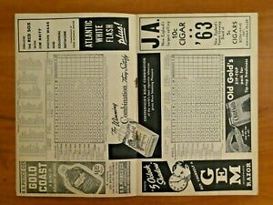 1940 Boston Red Sox Score Card Ted Williams Jimmie Fox