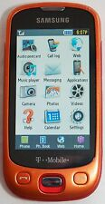 Samsung SGH-T749 T-Mobile Orange Highlight Cell Phone Touchscreen 3MP Camera -C-