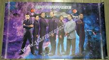 Gorgeous Banner Star Trek: Enterprise Crew & Nx-01 Grommeted Get Autographed!