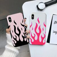 Cool Green Red Flames Phone Case For iPhone 11 Pro XS MAX X XR 7 8 6 6s Plus