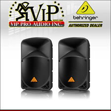 """2x Behringer B112D 12"""" High-Power 1000W 2-way PA Speaker System 2 Band EQ *NEW*."""