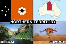 SOUVENIR FRIDGE MAGNET of THE STATE OF NORTHERN TERRITORY AUSTRALIA & KAKADU NP