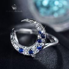 Sapphire (Imitation) White Gold Filled Fashion Rings