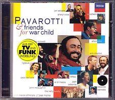 PAVAROTTI FRIENDS FOR WAR CHILD Eric Clapton Elton John Sheryl Crow Minnelli CD