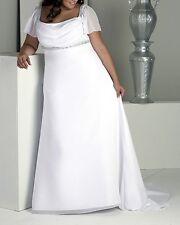 wedding dress dresses size plus 16 18 20 22 24 26 cap sleeves white ivory 6686