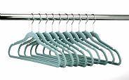 216 Huggable Hangers Slim Velvet Teal Chrome