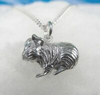 Meerschweinchen Anhänger 925 er Silber  mit Kette 45 cm