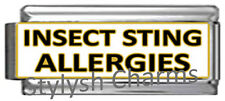 INSECT STING ALLERGIES MEDICAL ALERT ID Italian Charm 9mm x1 ME160 Sgl SuperLink