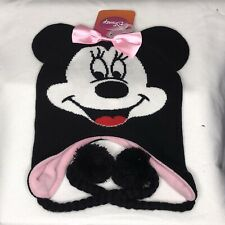 Disney Minnie Mouse Pink Knit Hat Laplander Sk 00004000 i Beanie Super Cute Authentic