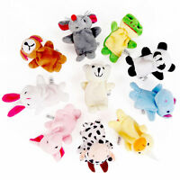 10 Stück Fingerpuppe Stofftiere Zoo Tiere Set Handspielpuppe Handpuppe NEUE B0A5