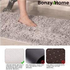 Fleece Plush Mat Bathroom Shower Rug Thick Bath Mat Non-Slip Carpet Absorbent