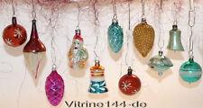CHRISTBAUMSCHMUCK Konvolut-11Stck alte farbige Glasornamente-Nikolaus,Glocke #60