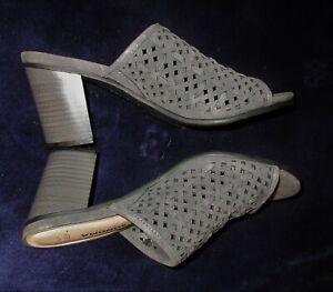 Sonoma Vitalize by Ortholite Women sz 7M gray black open toe slide sandals heels