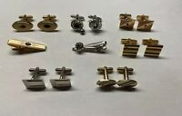 Lot of Vintage Cufflinks And Tie Clip Bars Anson Swank