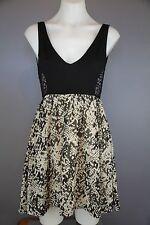 Lola vs Harper size 8 backless black short mini dress crochet