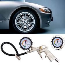 220Psi Moto Auto Car Tire Pressure Gauge Meter Air Inflator Flexible Hose