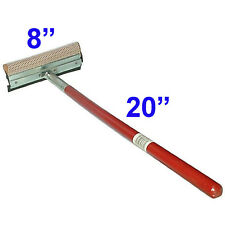 """8"""" x 20"""" Car Window Squeegee Long Handle Washer Scrubber Cleaner Wiper Brush"""