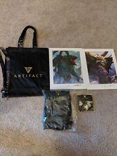 Artifact Valve DOTA 2 Promo items! Signed Art prints lanyard, bag, pins!