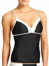 Athleta Colorblock Tankini Top Black and White S Small Swimsuit Top NWT #439115