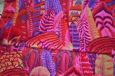 Fat Quarter Kaffe Fassett Feathers - Red - Cotton Quilting Fabrics