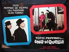 FOTOBUSTA CINEMA - TOTÒ, PEPPINO E UNA DI QUELLE - TOTÒ - 1953 - DRAMMATICO -04