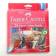 Pencils Drawing FABER CASTELL 24 Classic Colour Set Draw Fine Art Free Sharpener