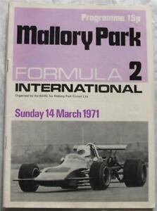 MALLORY PARK 4 Mar 1971 Formula 2 International Official Programme