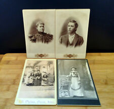 Antique G.G. Ogloe CABINET CARD Collection Qty. 4 Ossian Iowa B&W Portraits