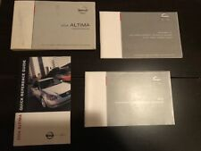 2004 Nissan Altima Owner's Owners Manual OEM Free Shipping