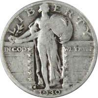 1930-S 25c Standing Liberty Silver Quarter Genuine
