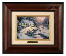 Thomas Kinkade Evening Glow Framed Brushwork (Burl Frame)