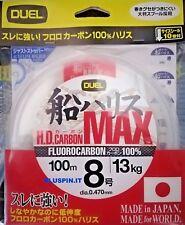 DUEL HD CARBON MAX  FLUOROCARBON 100%  100m dia. 8 0.470mm 13kg JAPAN