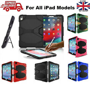 Tough Military Heavy Duty Silicone Rubber Case for Apple iPad Models in 5 Colors