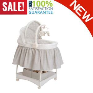 Heavy Duty Children Deluxe Gliding Bassinet Silver Lining Machine Washable NEW