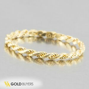 Solid 10k Yellow Gold Ladies Rope Midi Band / Stackable Rings - Size 8