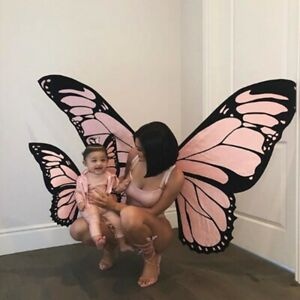 Halloween 3D Large Butterfly Big Wings Fairy Cosplay Adult Child Party Costume ✅