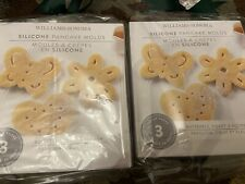 New Two Sets Of Williams Sonoma Silicone Butterfly Heart Flower Pancake Molds