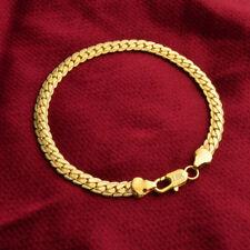 18k Gold Armkette Massiv 5MM Panzerkette Armband Herren Damen vergoldet 33€