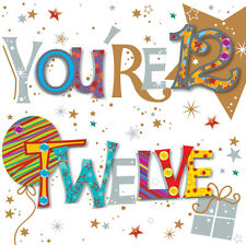 You're Twelve 12th Birthday Greeting Card By Talking Pictures Greetings Cards
