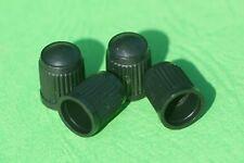 4 Autoventil-Kappen, Kunststoff Kappe, Ventilverschlusskappe für Reifen, schwarz