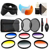55mm Color Filter Kit with Accessory Bundle for Nikon D3400 , D5300 and D5600